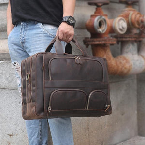 Husson Crazy Horse Leather Briefcase - Chilco Leather