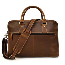 Load image into Gallery viewer, Merville Full Grain Leather Laptop Briefcase - Chilco Leather