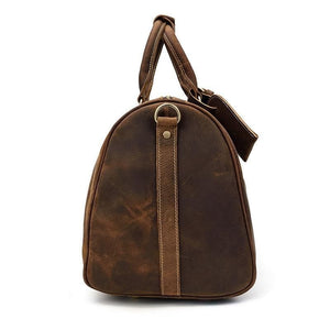 Monarch Crazy Horse Leather Travel Duffle Bag - Chilco Leather
