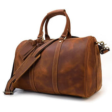 Load image into Gallery viewer, Monarch Crazy Horse Leather Travel Duffle Bag - Chilco Leather