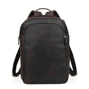 Morton Men's Crazy Horse Leather Backpack - Chilco Leather