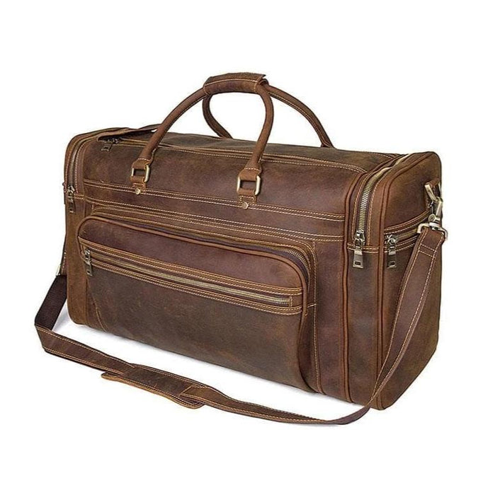 Nasko Crazy Horse Leather Large Travel Bag - Chilco Leather