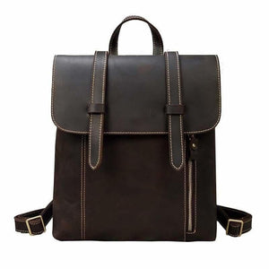 Palmer Vintage Crazy Horse Leather Backpack Dark Brown Backpack