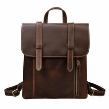 Load image into Gallery viewer, Palmer Vintage Crazy Horse Leather Backpack Light Brown Backpack