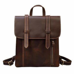 Palmer Vintage Crazy Horse Leather Backpack Light Brown Backpack