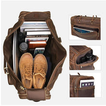 Load image into Gallery viewer, Nasko Crazy Horse Leather Large Travel Bag - Chilco Leather