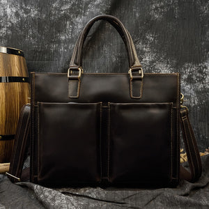 Hazelton Leather Briefcase With Shoulder Strap