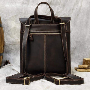 Palmer Vintage Crazy Horse Leather Backpack - Chilco Leather