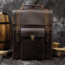 Load image into Gallery viewer, Hawkins Vintage Style Full Grain Leather Backpack - Chilco Leather