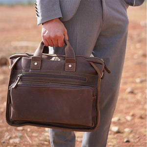 Warner Vintage Leather Briefcase