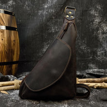 Load image into Gallery viewer, Odin Crazy Horse Leather Crossbody Bag - Chilco Leather