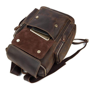 Jackson Crazy Horse Leather Travel Backpack - Chilco Leather