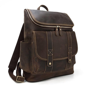 Rutherford Vintage Crazy Horse Leather Backpack - Chilco Leather
