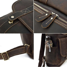 Load image into Gallery viewer, Rutherford Vintage Crazy Horse Leather Backpack - Chilco Leather