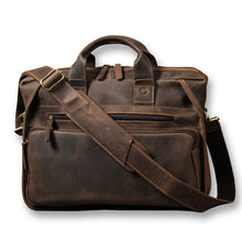 Load image into Gallery viewer, Warner Vintage Leather Briefcase