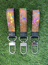 "Load image into Gallery viewer, GG ""Paint Splatter"" Keychain w/ Swivel Clasp"