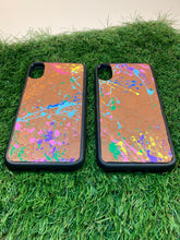 "Load image into Gallery viewer, GG 'Paint Splatter"" iPhone X Phone Case"