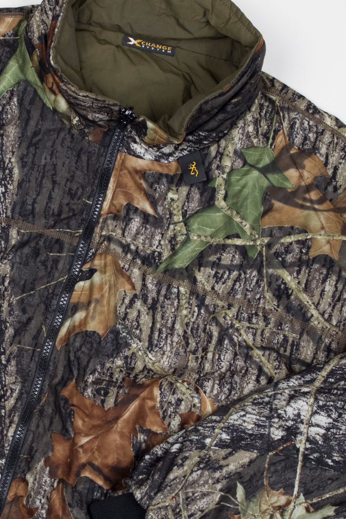 Browning Pro Series Mossy Oak Reversible Hunting Bomber Jacket