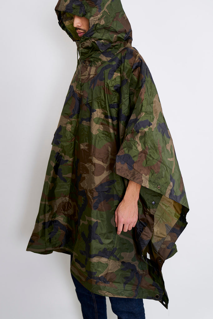 Angolan Armed Forces Woodland Rain Poncho/Tarp