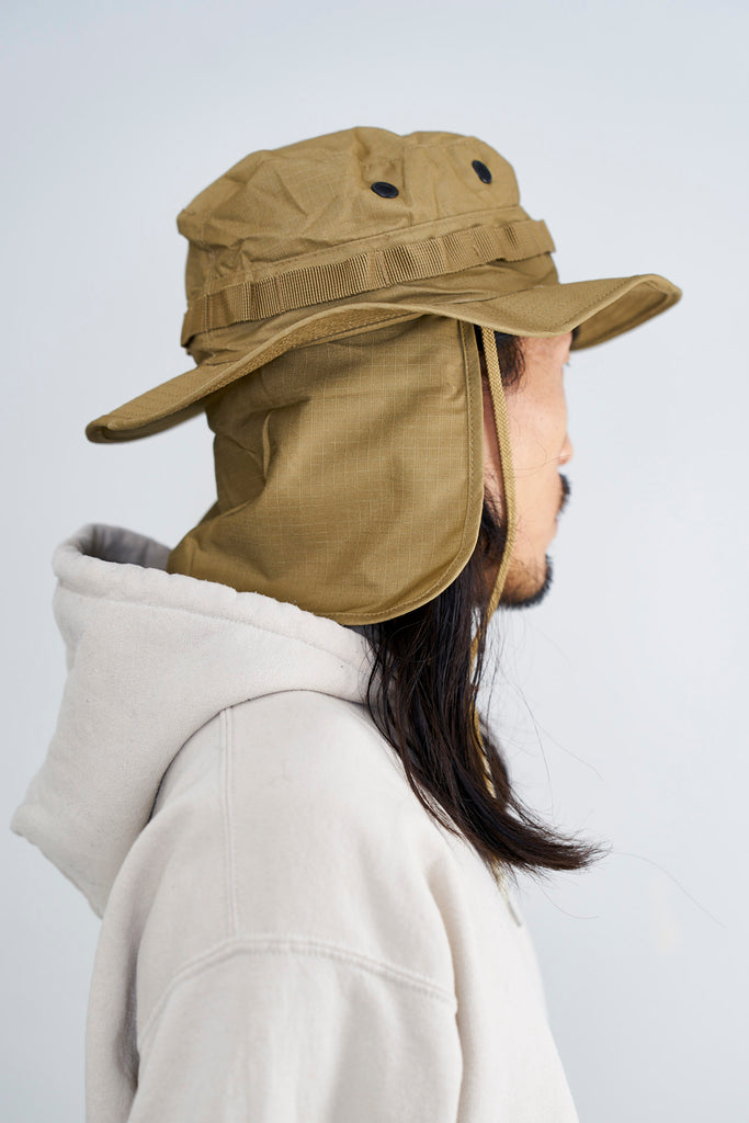 Boonie Hat / Coyote with removable neck flap
