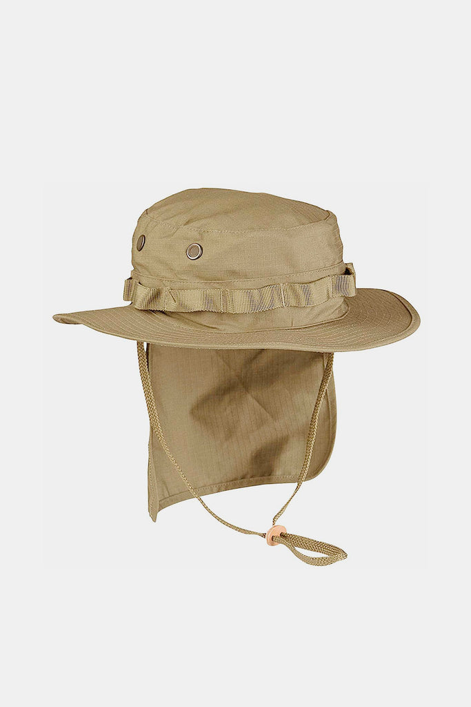 Army Boonie Hat Coyote with removable neck flap