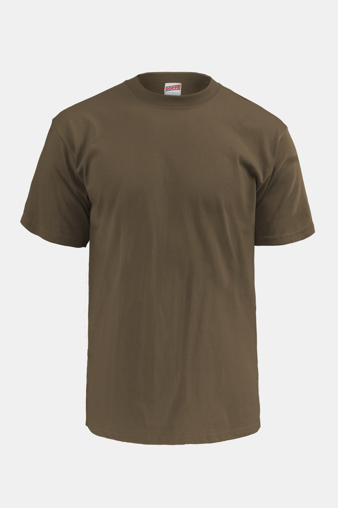 Soffe U.S. Navy Cotton T-Shirt / Woodland Brown