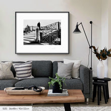 Load image into Gallery viewer, Man on a bridge