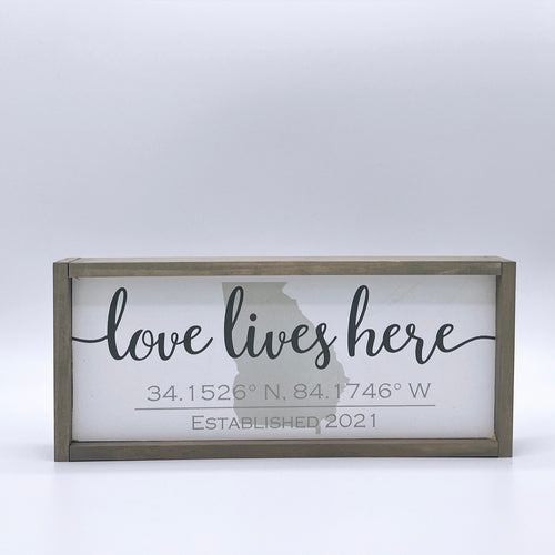 Custom Home Coordinates Sign, 5