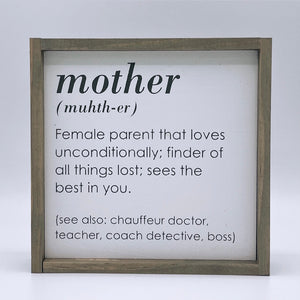 Mother: definition