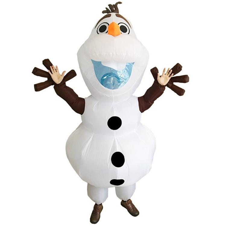 Olaf Inflatable Clothes Party Cospaly Performance Props for Adult