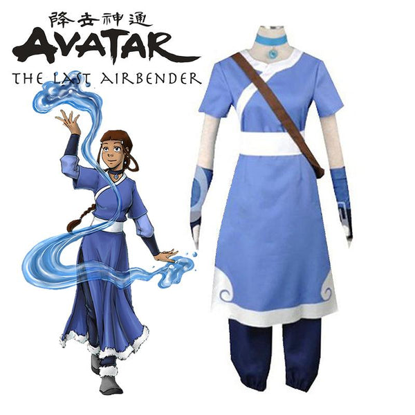 Avatar The Last Airbender Katara Costume Cosplay Suit for Grils
