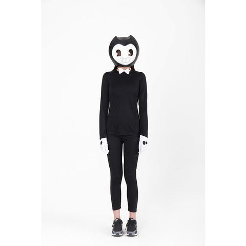 Kids Bendy Black Costume with Latex Mask Bendy And The Ink Machine Halloween Costume