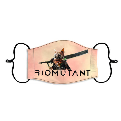 Biomutant Face Mask Reusable Adjustable Face Cover Kids Adults Breathable Wear