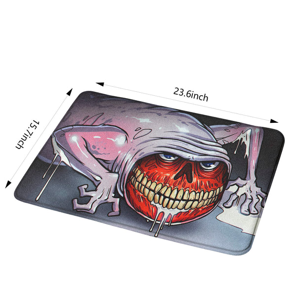 Bridge Worm Horror Rug Mat Non-slip Floor Mats for Door Home Halloween Decoration