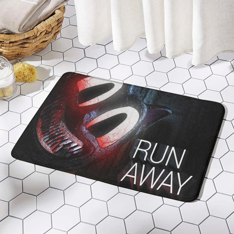 Cartoon Cat Horror Rug Run Away Mat Non-slip Floor Mats for Door Home Decoration