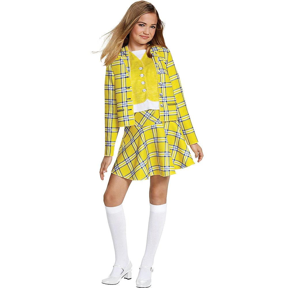 Clueless Cher Costume Stripe Dress Cos Props for Kids