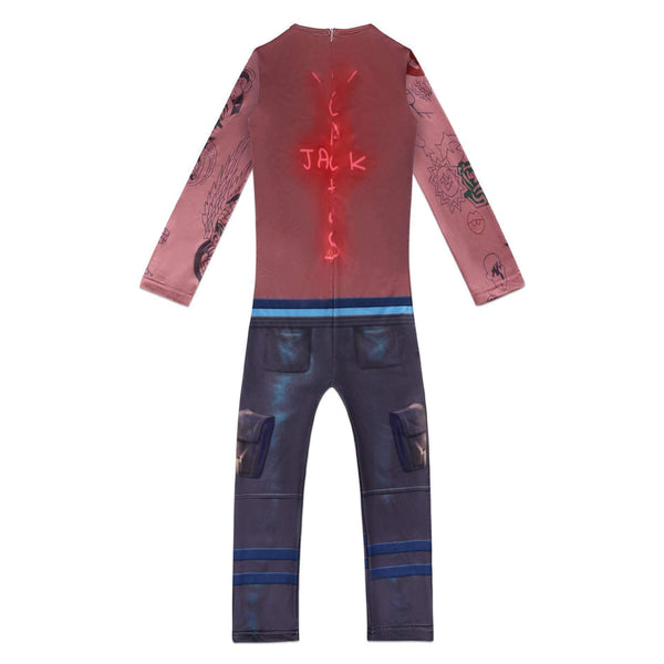 Fortnite Travis Scott Costume Jumpsuit for Kids Halloween Supplies