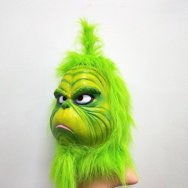 Grinch Green Latex Mask How the Grinch Stole Christmas! Costume Party Mask