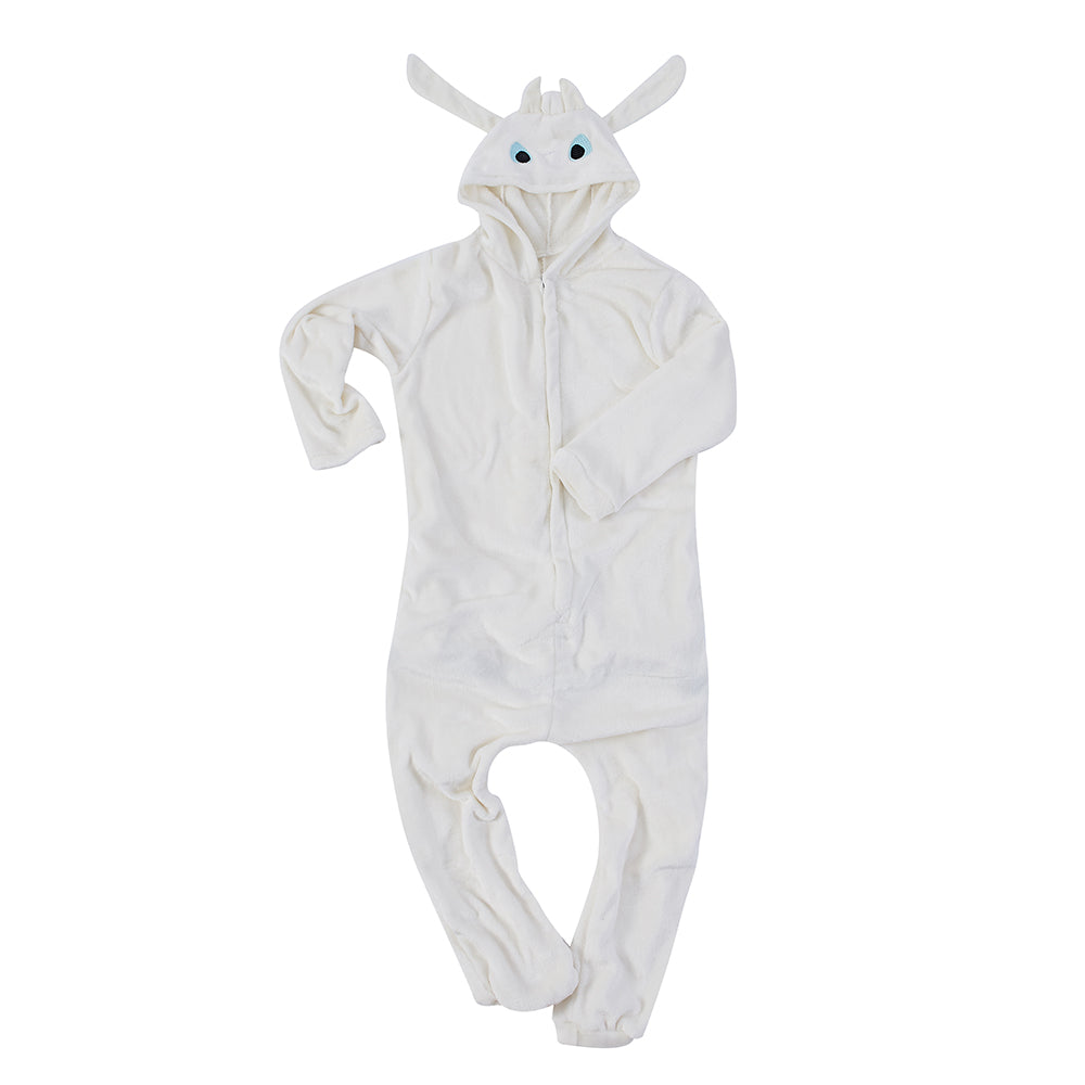 How to Train Your Dragon Toothless Costume Pajama Light Fury White Costume Pajama For Adult