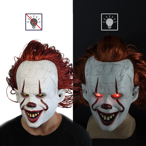 Halloween It: Chapter Two Pennywise Overhead Latex Mask Glow In Dark