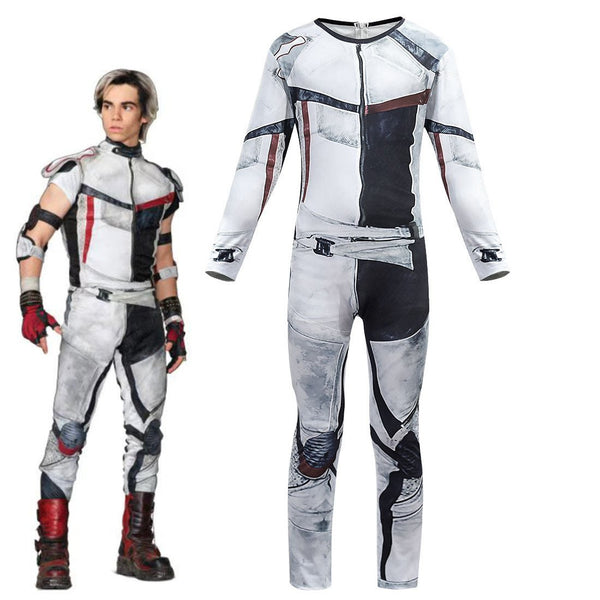 Kids Descendants 3 Carlos Cosplay Costume Jumpsuit For Halloween Party