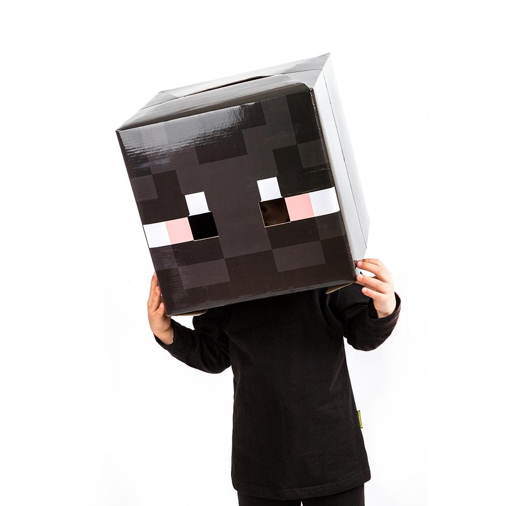 Kids Minecraft Enderman Costume With Mask Halloween Cosplay Costume Party