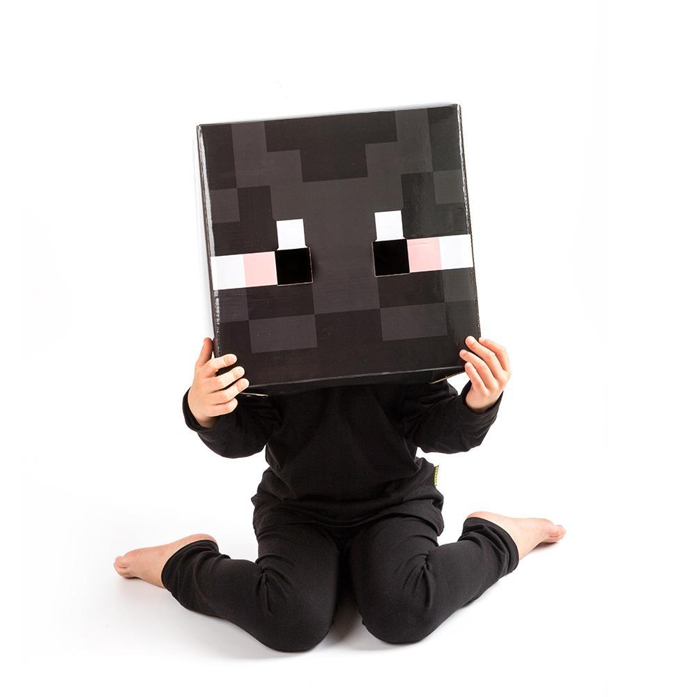 Kids Minecraft Enderman Costume With Mask Halloween Cosplay