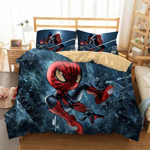 Miles Morales Spider Man Bedding Set Bed Quilt Cover Pillow Case Home Use
