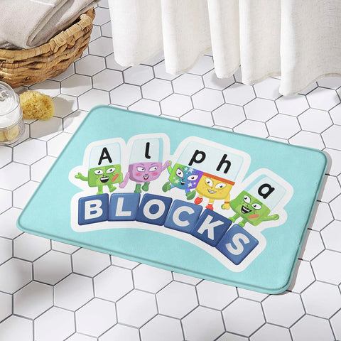 Numberblocks Rug Mat Non-slip Floor Mats for Door Home Decoration