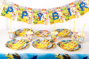 Kids Pokemon Sword Shield Table Ware Party Supplies Birthday Party 16 Guests Decor Party Use