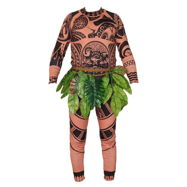 Kids Maui Costume Moana Jumpsuit Halloween Costume Party