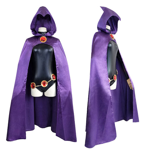 Raven New Teen Titans Maillot And Cloak Costume Kit Halloween Costume Party Props