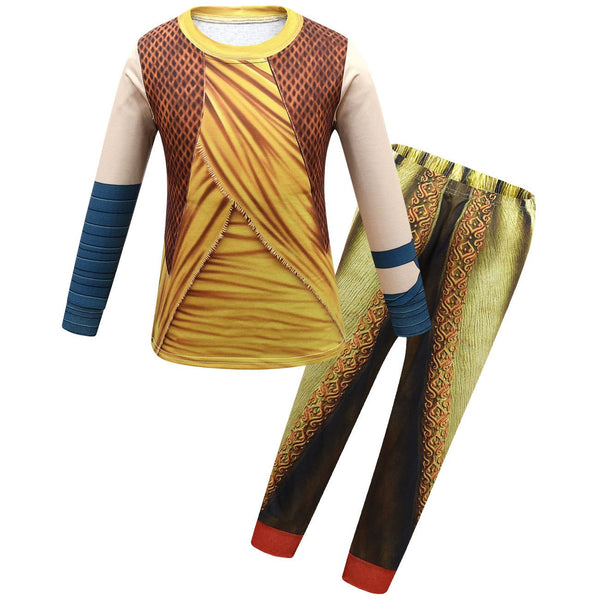 Raya and The Last Dragon Costumes T Shirt and Pants Set Party Holiday Cosplay Stage Costumes for Kids