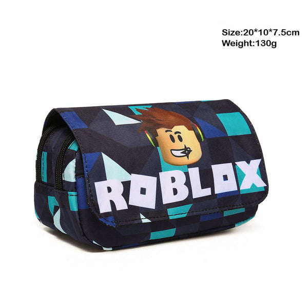 Roblox Pencil Case for School Large Capacity Zipper Stationery Pencil Case